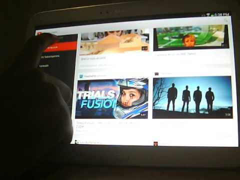How to Sign Out of Youtube - Samsung Galaxy Tab 3