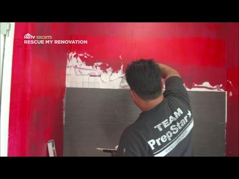 Shower Surround Installation | Rescue My Renovation | HGTV Asia