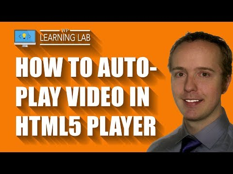 How To Set HTML5 Video Autoplay