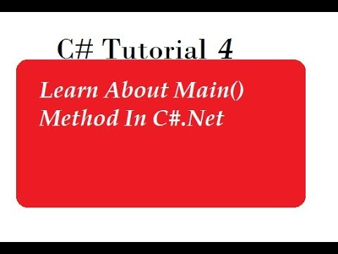 Main Method In C#