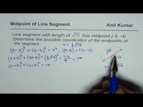 How to find the points of line segment with given length and midpoint