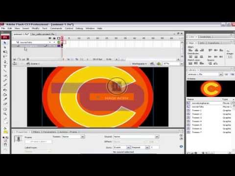 HOW TO MAKE QUICK ANIMATION WITH ADOBE FLASH CS3 #PART 3