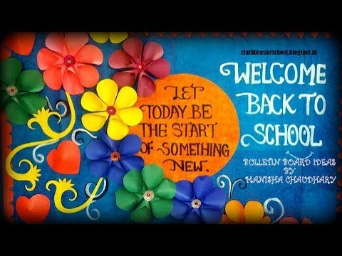 Back to school bulletin board for school