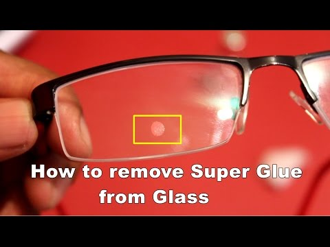 Removing adhesive (Super Glue) from glass without damage.