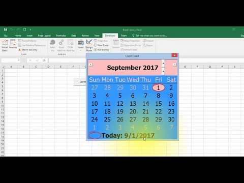 Date picker : Popup Calendar for Excel || in Kannada