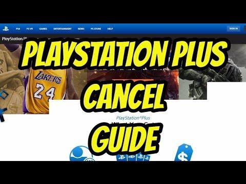 PS4 - PlayStation Plus Cancel Guide (PS Plus)