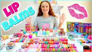 Lip Balm Collection & Haul - EOS, Baby Lips, Lip Smackers, Lip Gloss and More! 2017