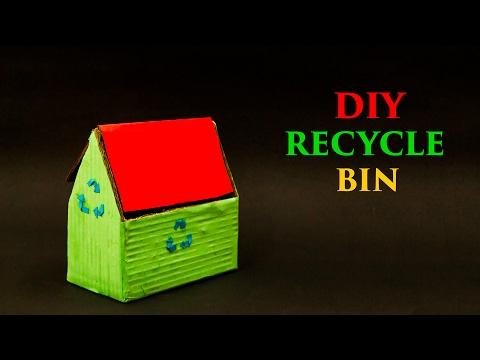 Cardboard Recycle Bin DIY Projects