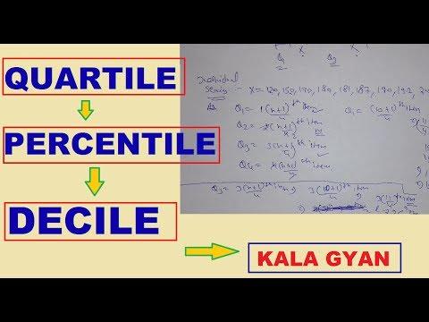 How to find quartile percentile decile