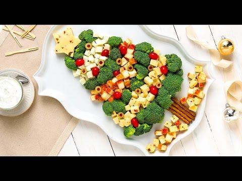 Xmas Tree Broccoli  and Cheese Platter