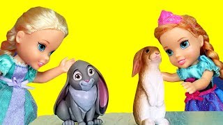 PETS ! Elsa and Anna toddlers at school - spelling - Barbie is the teacher