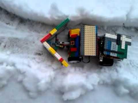lego unimog snow plow.