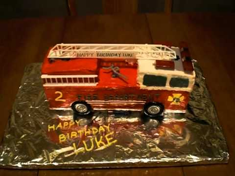 Firetruck Birthday Cake with Lights and Sound.