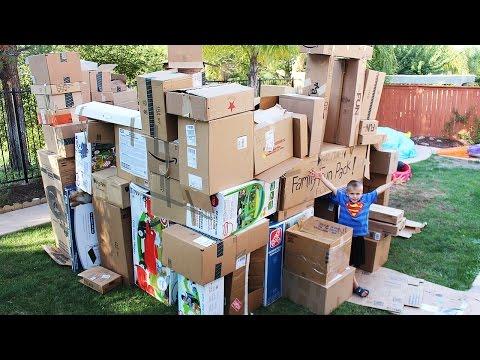 World's Biggest Box Fort