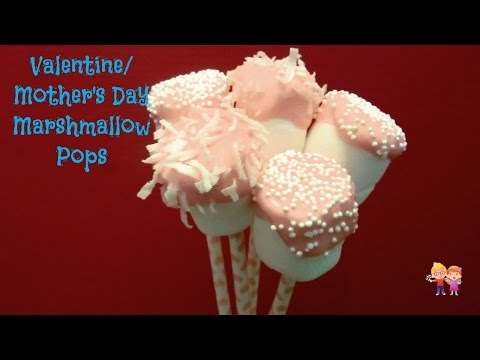 Easy Marshmallow Valentine/ Mother's Day Pops