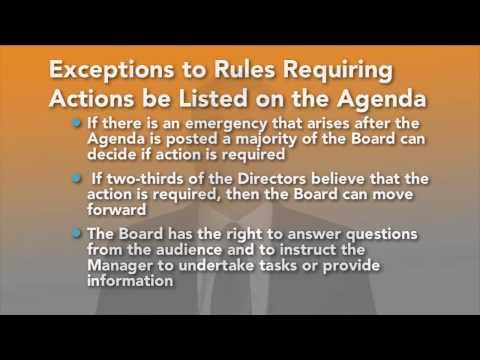 The Board Meeting Agenda