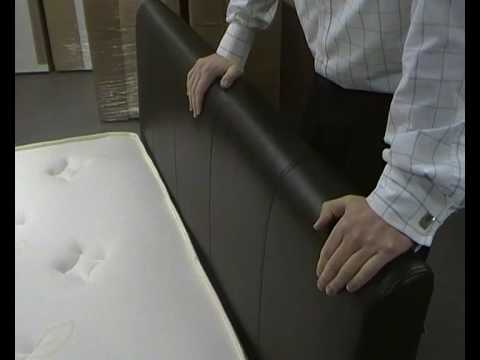 David Phillips Furniture - Cherie Faux Leather Bed Frame
