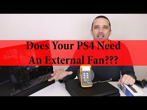 PS4 Pro External Cooling Fan - Does it Run Cooler?