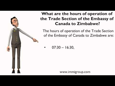 What are the hours of operation of the Trade Section of the Embassy of Canada to Zimbabwe?
