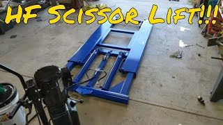 Harbor Freight 6000 Lb. Capacity Scissor Lift Review, Central Hydraulics, is it worth it?