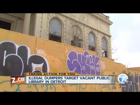 Illegal dumpers target vacant public library in Detroit