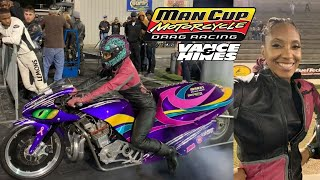 FIRST AFRICAN AMERICAN FEMALE TO REACH 4.60 DRAG BIKE FINAL SEEKS WIN AGAINST TOUGH VETERAN RACER!