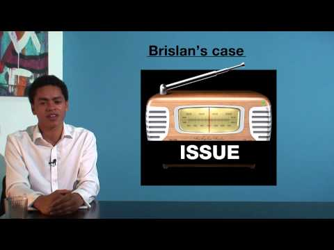 VCE Legal Studies - Brislan's Case