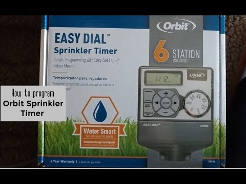 How to program Orbit Easy Dial Sprinkler Timer DIY video | #diy #sprinkler
