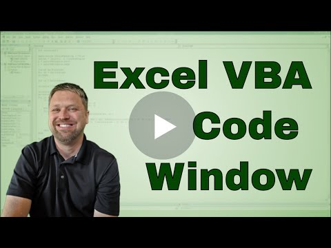 Excel VBA Visual Basic Editor Code Window
