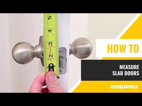 How To Measure Slab Doors - HD Supply FM