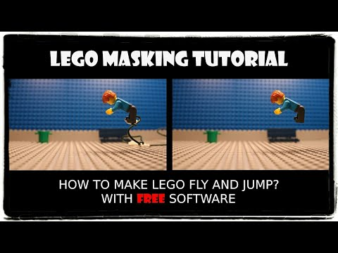 LEGO MASKING TUTORIAL: How to make LEGO fly and jump (with FREE SOFTWARE)?