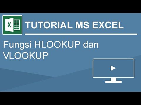 tutorial dasar rumus VLOOKUP dan HLOOKUP pada microsoft excel