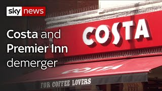 Whitbread to spin off Costa Coffee from its other interests to please investors.