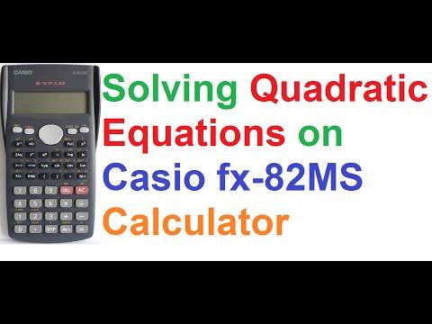 How To Solve Quadratic Equations on Casio fx-82MS Scientific Calculator by Quadratic Formula