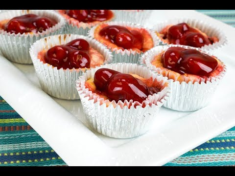 Mini Marbled Cherry Cheesecake
