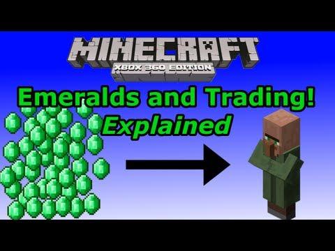 Minecraft Xbox 360: Emeralds & Trading Explained!