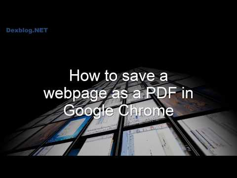 How to save a webpage as a PDF in Google Chrome