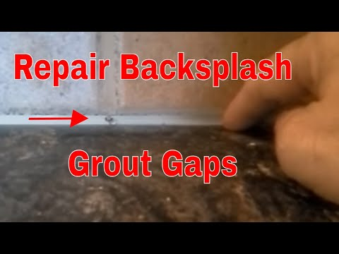How To Repair A Kitchen Tile Backsplash Gap With Grout