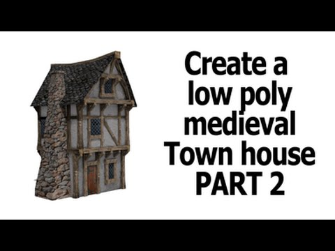 Blender | low poly house unwrap and texture | part 2