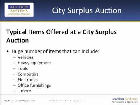 City Surplus Auction - Ways to Score on Property No Longer Needed
