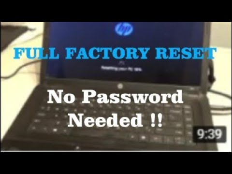 FACTORY RESET HP Laptop/Netbook WINDOWS 8/10 w/o the user password !!