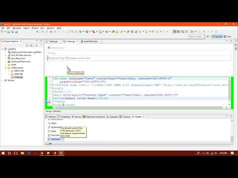 Web Page Editor In Eclipse | Code Factory