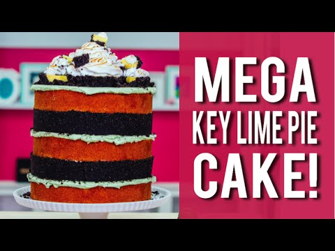 How To Make A KEY LIME PIE MEGA CAKE! Key Lime PIES, VANILLA CAKE, and LIME BUTTERCREAM!