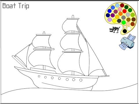 Pirate Ship Coloring Pages For Kids - Pirate Ship Coloring Pages