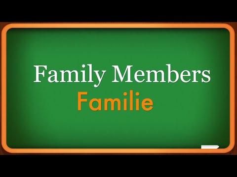 Lesson 2 - Family Members - Familie - Learn German Language - speak german - easy learn german