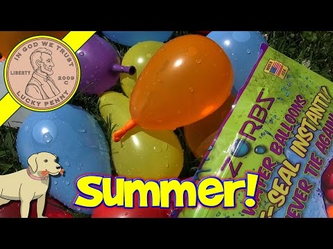 Zorbz Self-Sealing Water Balloons, Never Tie Again!