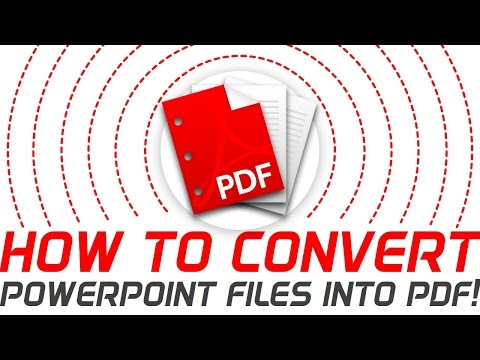 How to convert PowerPoint file into PDF! PowerPoint Pro Solution Tutorial Video!