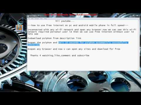 How To Get Free Internet On Your PC! With High Speed!! 2016