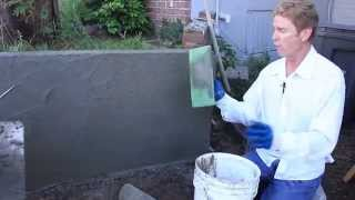 Cement plastering advice, plastering over concrete walls, stucco my concrete retainer wall