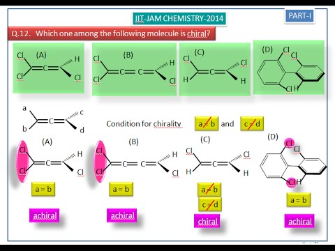 Chirality in allenes and biphenyl-IIT-JAM 2014 Chemistry answer